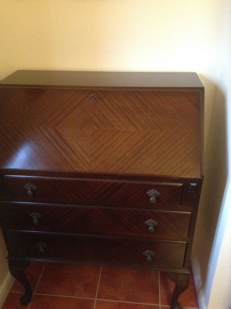 Lovely Mahogany Bureau needs some TLC . A good project for the right buyer