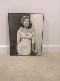 Marilyn Monroe Print in dark frame from John Lewis