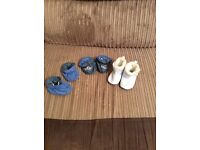 Boys mothercare soft pram shoes size 3-6 months
