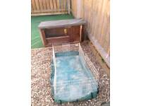 Rabbit / Guinea pig indoor and outdoor hutches