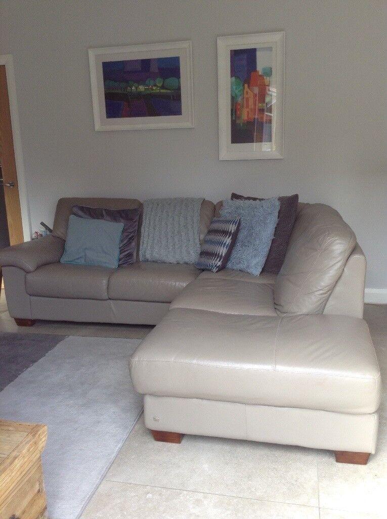 Swell 5 Seater Leather Corner Taupe Coloured Sofa In Greenisland County Antrim Gumtree Inzonedesignstudio Interior Chair Design Inzonedesignstudiocom