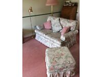 FREE - 2 x 2 seater sofas + footstool