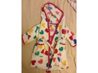 3-6 month John Lewis baby dressing gown (never worn)