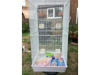 Large bird cage suitable for small or large birds