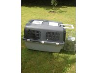 Dog traveling crates 2, used once. English cocker spaniels sized dog.