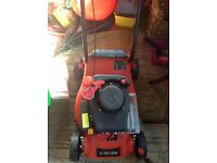 Petrol lawn mower. Used 3 times, in very good condition. Petrol can included.