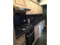 Beech colour used kitchen units in good condition