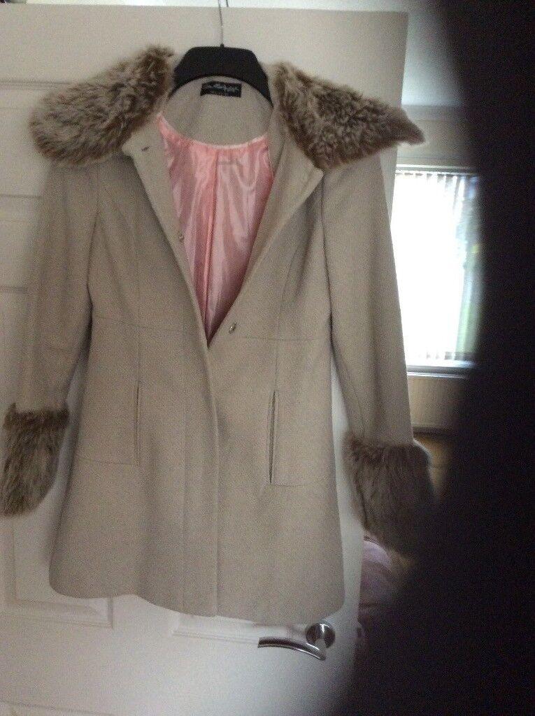Miss selfridges coat size 8