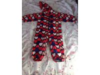Mini mode heart puddle suit 3-4 years