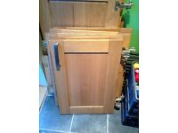Solid Oak unit doors