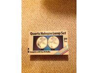 Quartz halogen lamp set