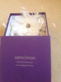 Beautiful white Aurora's Design headpiece