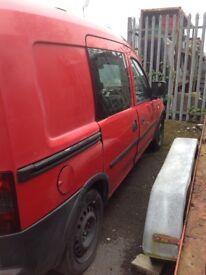 Vauxhall combo crew van spares repair or export/ project ect