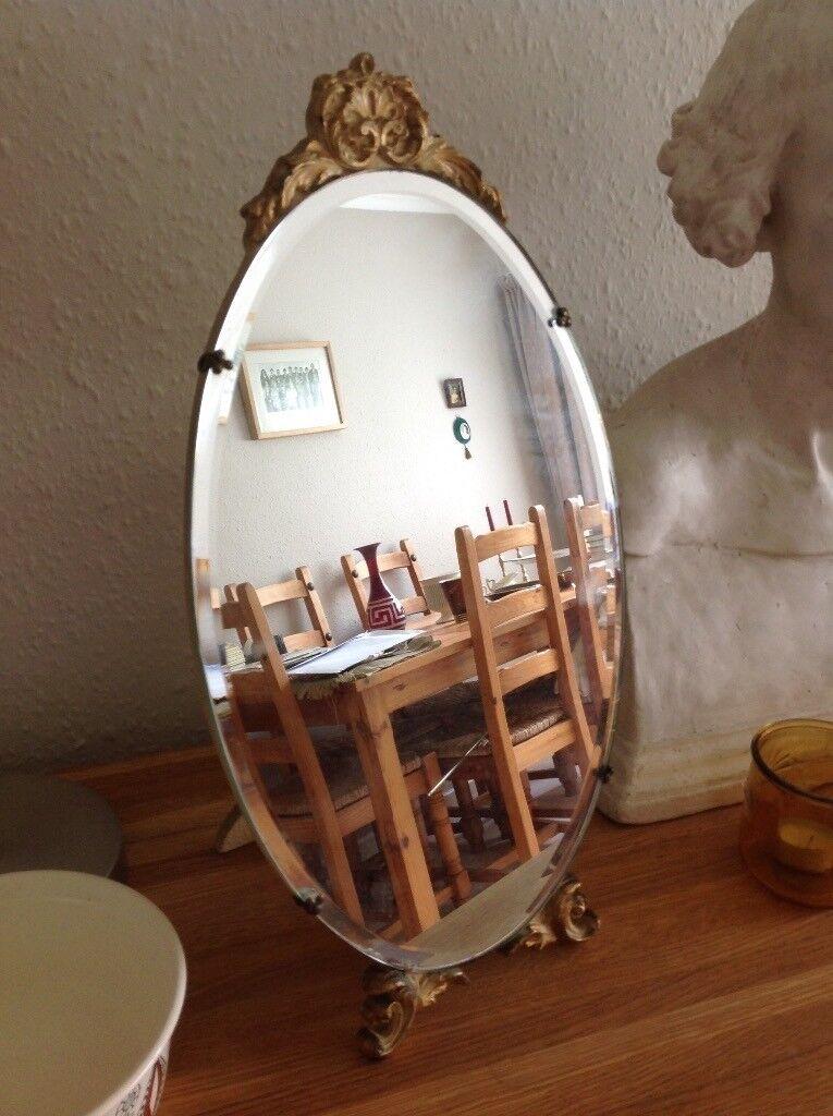Antique Table Top Mirror Vintage Atsonea 1940s Retro Barbola Gilt