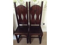Pair of Antique High back Chairs