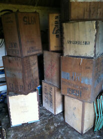 Ten antique tea chests been used for storage great decorative items