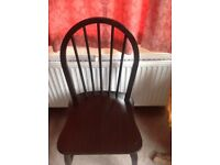 4 wooden dinning chairs