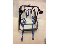 Small rear mounted bike carrier