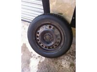 VAUXHALL SPARE WHEEL WITH TYRE - 15'' -- 185 65 15 - 4 STUD