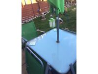 Garden furniture set table and chairs