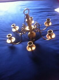brass candle chandelier