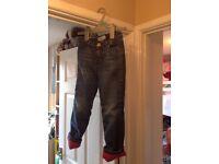 Gap Girl Fleece Lined Jeans inside leg 44cm age 5 years