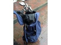 Wilson dual metal clubs and trolley bag (Used)