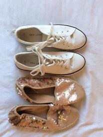 Girls summer shoes, size 4 (older children's) beautiful sequin changeable espadrills