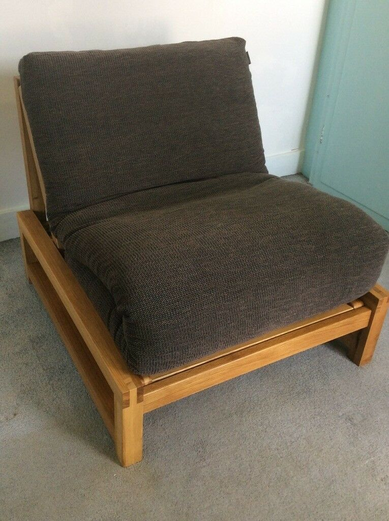 huge discount bc166 2d280 Futon Company Solid Oak Linear Single Futon Chair Bed Aldeburgh Cocoa Cover    in Gillingham, Kent   Gumtree