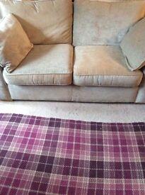 Next cream fabric 2seater sofa for sale