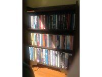 Dark stained bookcase