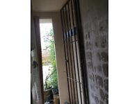 """Iron Security Gate 2'5"""" wide x 7'9"""""""