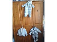 Baby bundle boys clothes 0-3 months