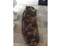 Single camouflage sleeping bag