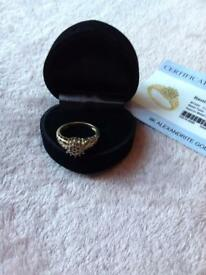 9K Alexandrite Gold Ring, bought from Gems T.V