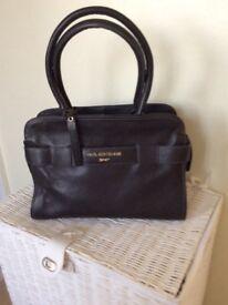 Paul Costello black leather handbag