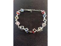 925 sterling silver crystal bracelet