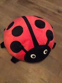 Kids Ladybird Air Cushion from Ikea- air element and cover included, ready to go!