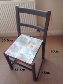 Wooden chair -Map design