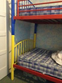 Bunk bed metal frame