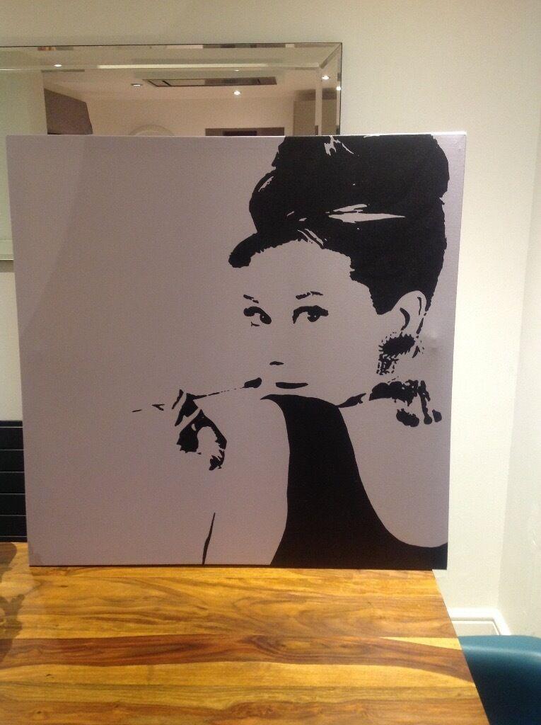 Audrey hepburn canvas painting ikea in milton keynes for Ikea audrey hepburn