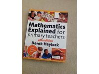 undergraduate/education/teaching: Mathematics explained primary teachers by Derek Haylock