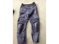 IXS motorcycle leather trousers
