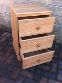 Modern set of bedroom drawers in great condition,Alston furniture