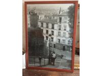 26 ins x 36 ins framed picture of Montmartre
