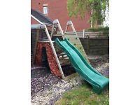 Plum outdoor climbing frame with slide
