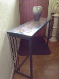 Beautiful Wrought Iron Console Table Asking £20. Lovely condition.