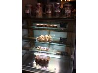 Cake display fridge for cafe or bakery