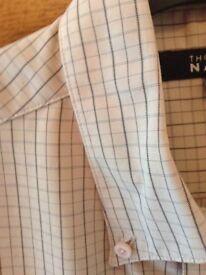 Men's Clothing Soft Touch Beige Check Short Sleeve Shirt Size Medium