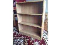 Beech effect bookcase shelf cabinet